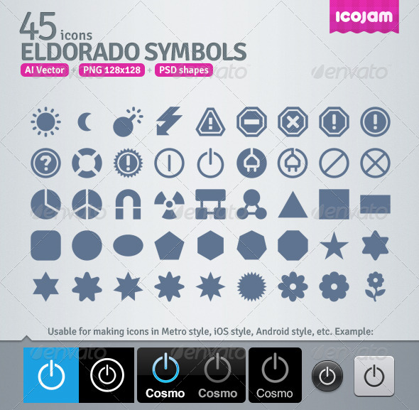 45 AI and PSD Symbols strict Icons - Media Icons