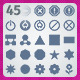 45 AI and PSD Symbols strict Icons - GraphicRiver Item for Sale