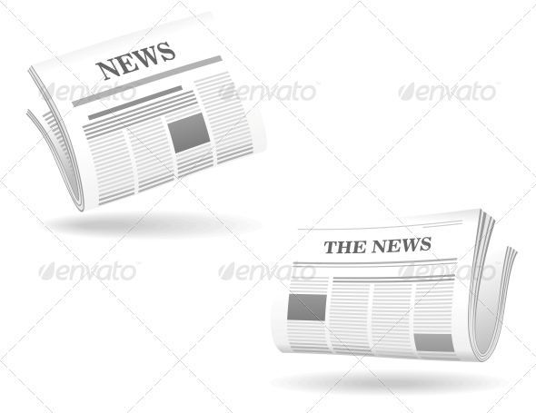 Newspaper Realistic Icons - Media Technology