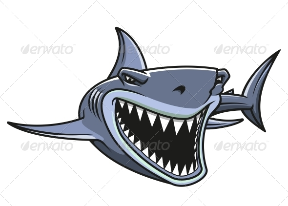 Danger Shark Attacks - Animals Characters
