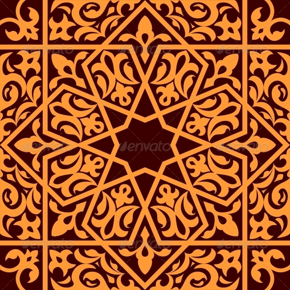 Arabic and Islamic Seamless Ornament - Patterns Decorative
