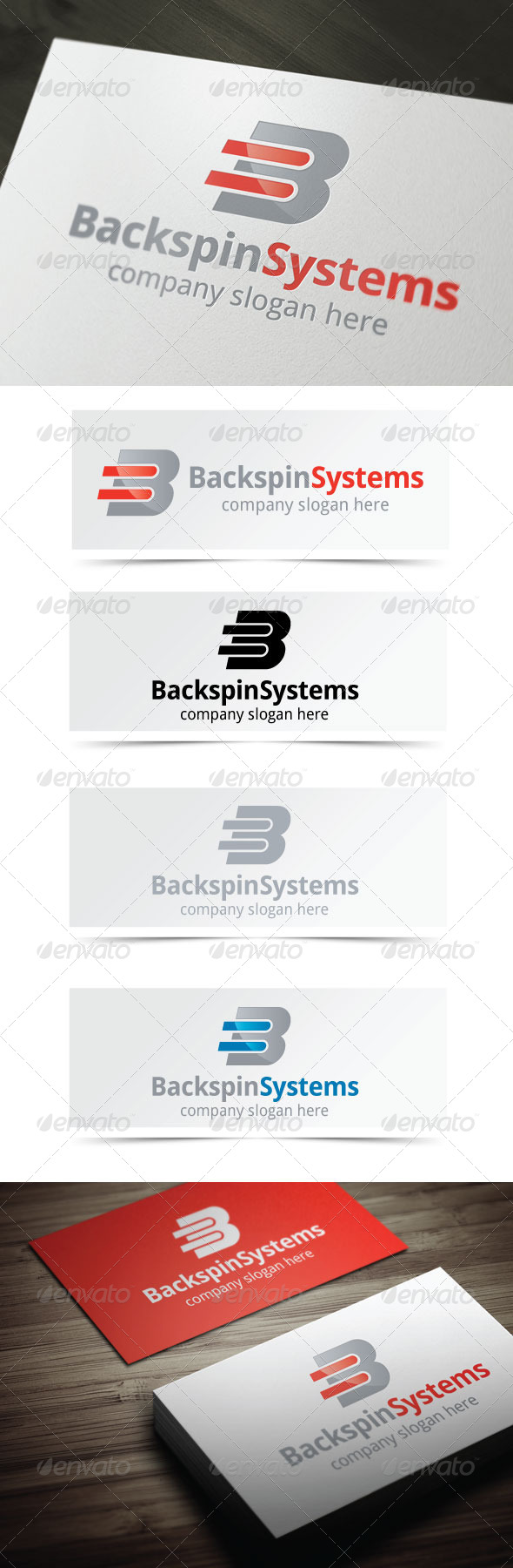Backspin Systems - Letters Logo Templates