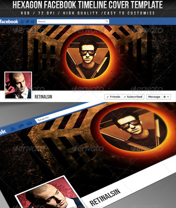 Hexagon Facebook Timeline Cover - Facebook Timeline Covers Social Media
