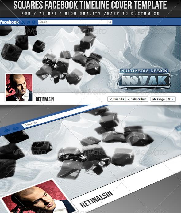Squares FB Timeline Cover - Facebook Timeline Covers Social Media