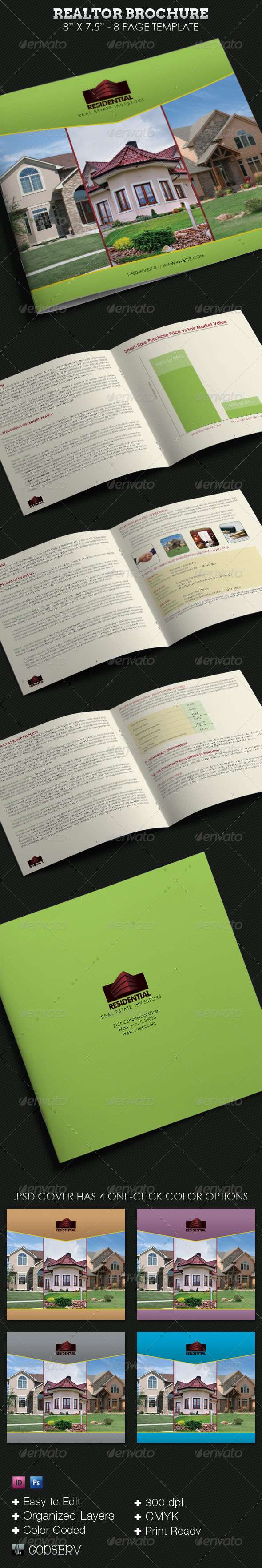 Real Estate Brochure Square Template - Corporate Brochures