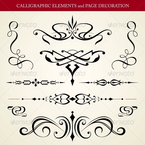 Calligraphic Elements and Page Decoration  - Decorative Symbols Decorative