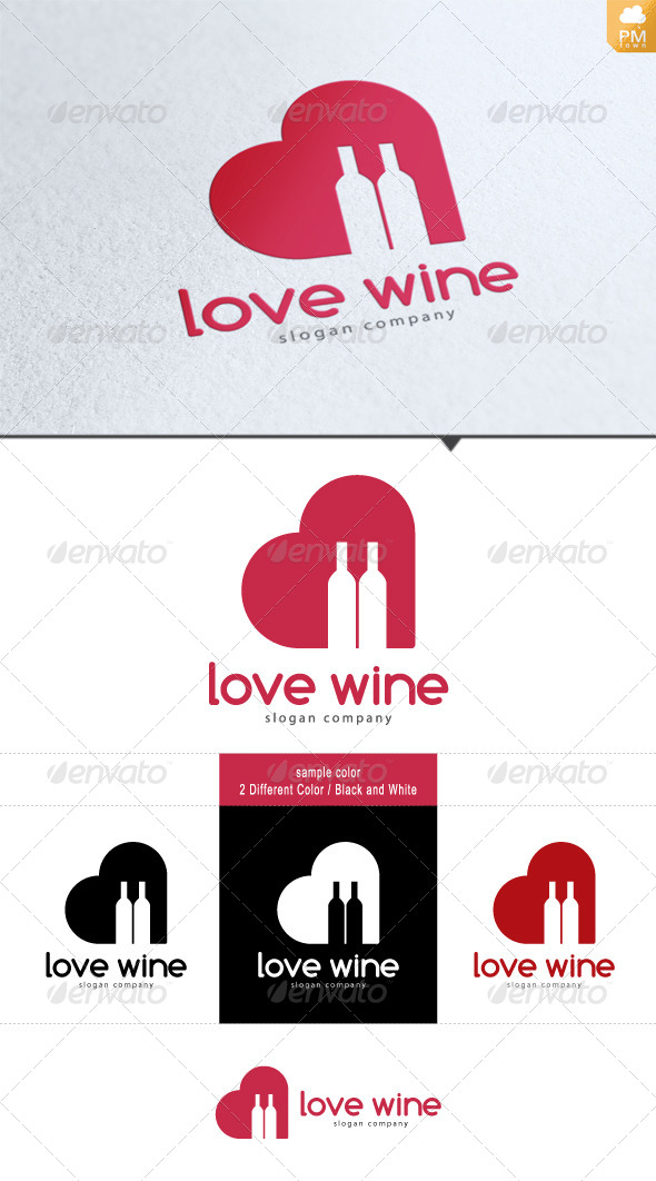Love Wine - Food Logo Templates