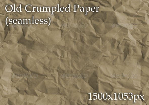 Old Crumpled Paper (seamless) - Paper Textures