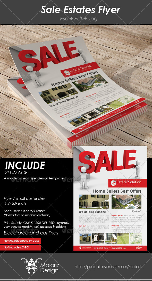 Sale Estates Flyer - Corporate Flyers