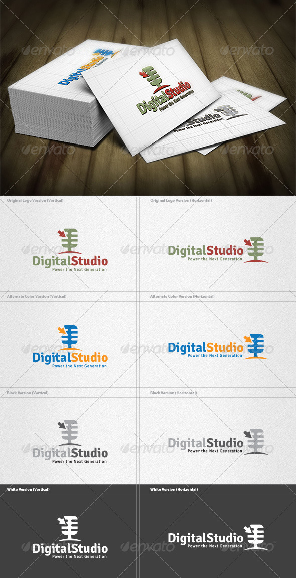 Digital Studio Logo - Symbols Logo Templates