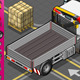 Isometric Container Truck in Rear View - GraphicRiver Item for Sale