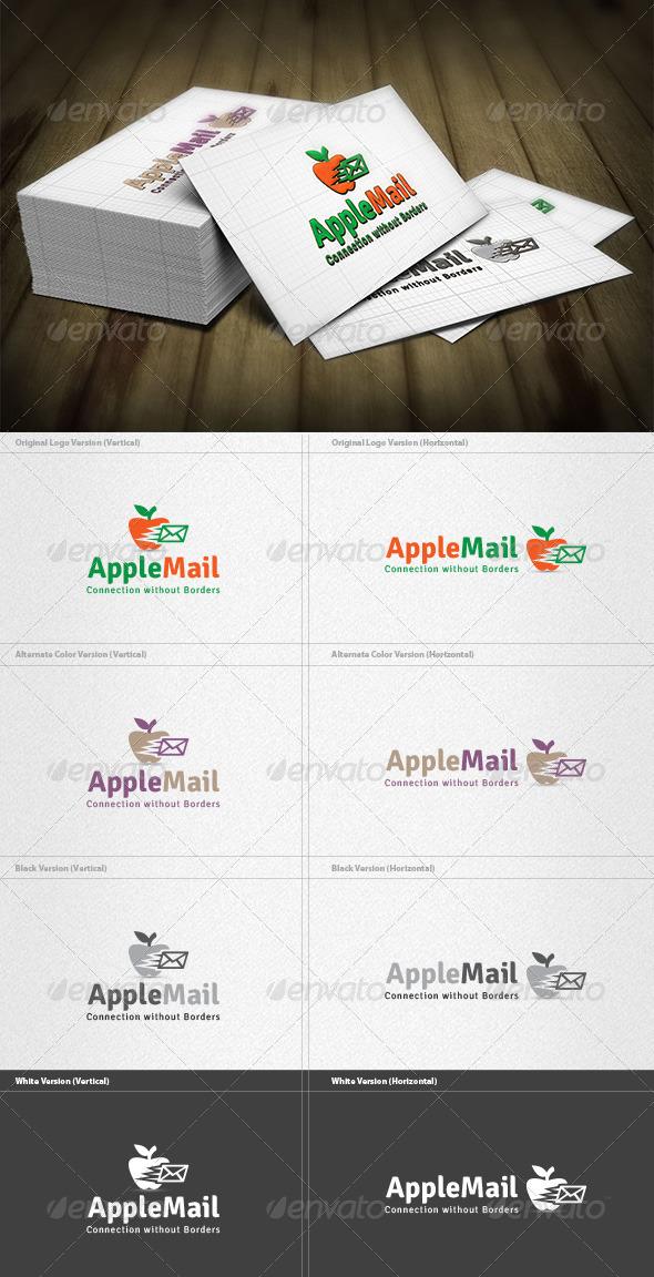 Apple Mail Logo - Food Logo Templates