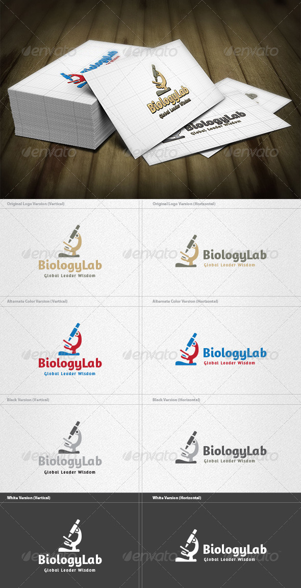 Biology Lab Logo - Objects Logo Templates