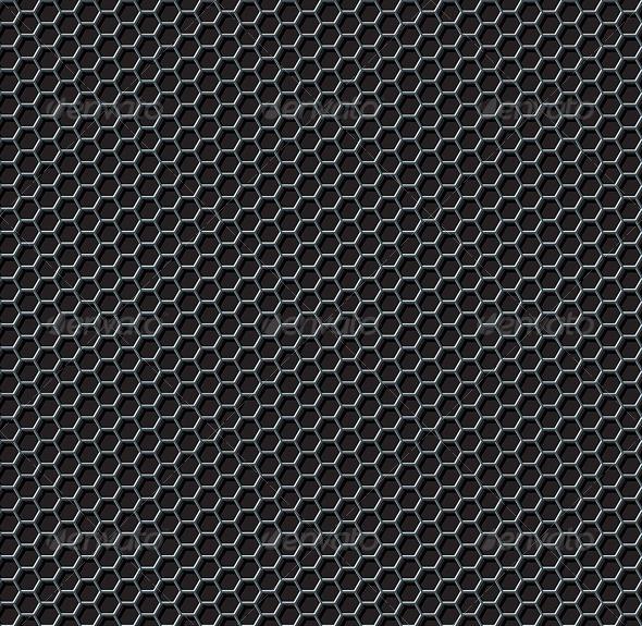 Hexagon Grid Seamless Pattern - Patterns Decorative