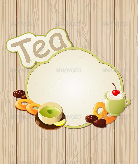Tea Label - Food Objects