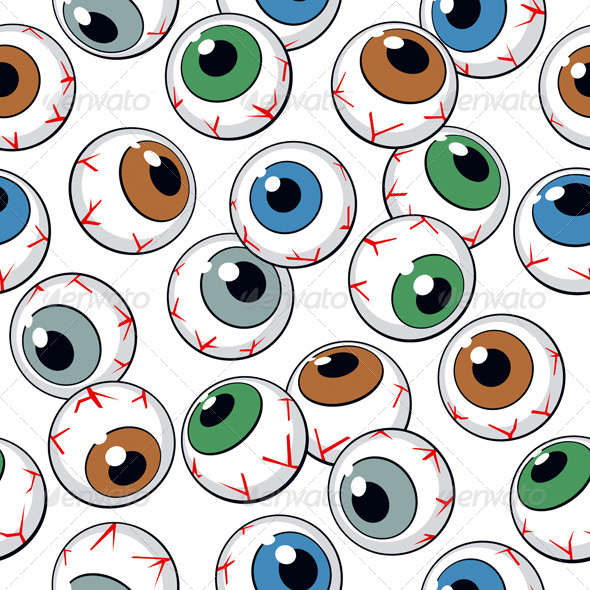 Eyeballs Seamless Background - Patterns Decorative