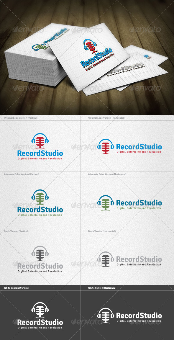 Record Studio Logo - Objects Logo Templates