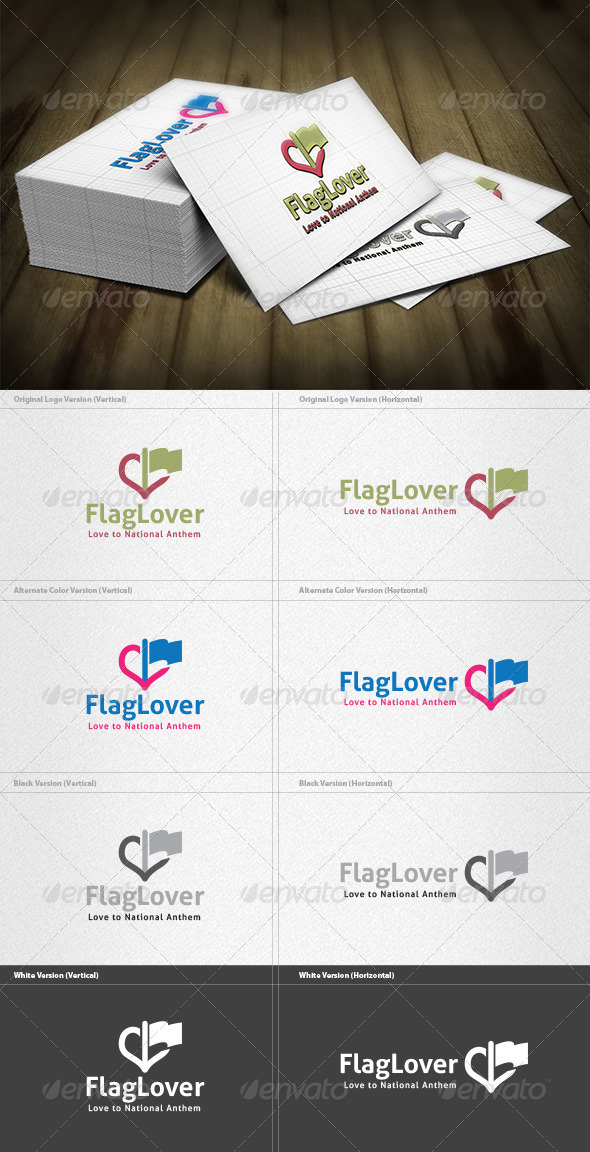 Flag Lover Logo - Vector Abstract