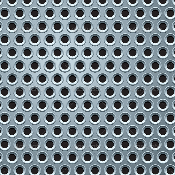 Perforated Metal Plate Seamless Pattern - Patterns Decorative