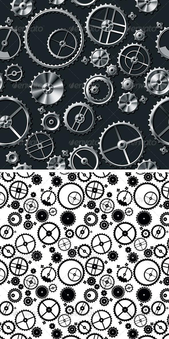 Metal Gears - Patterns Decorative