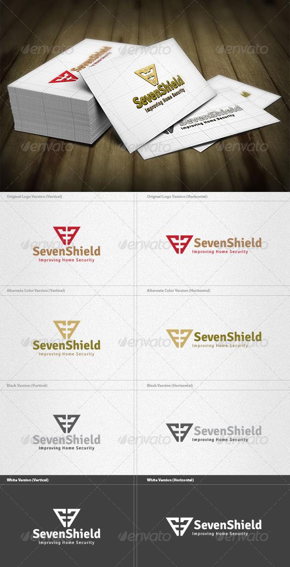 Seven Shield Logo - Numbers Logo Templates