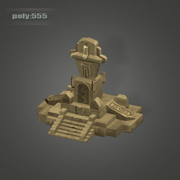 Low Poly Dungeon Stone - 3DOcean Item for Sale