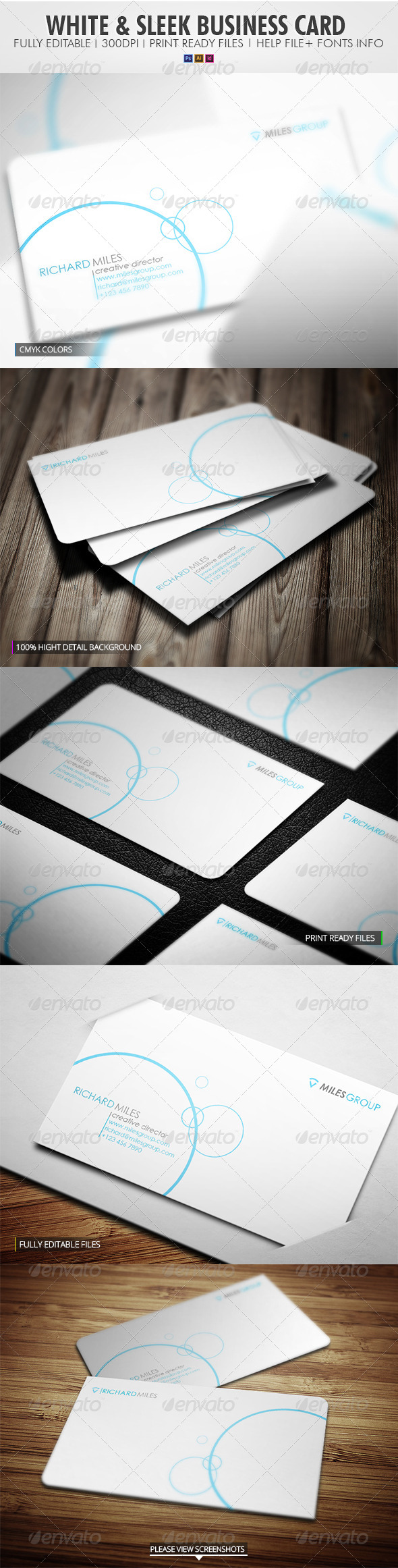 White Sleek Business Card - Corporate Business Cards