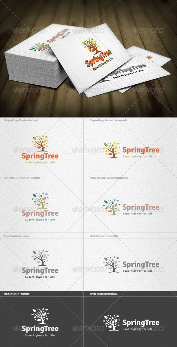 Spring Tree Logo - Nature Logo Templates