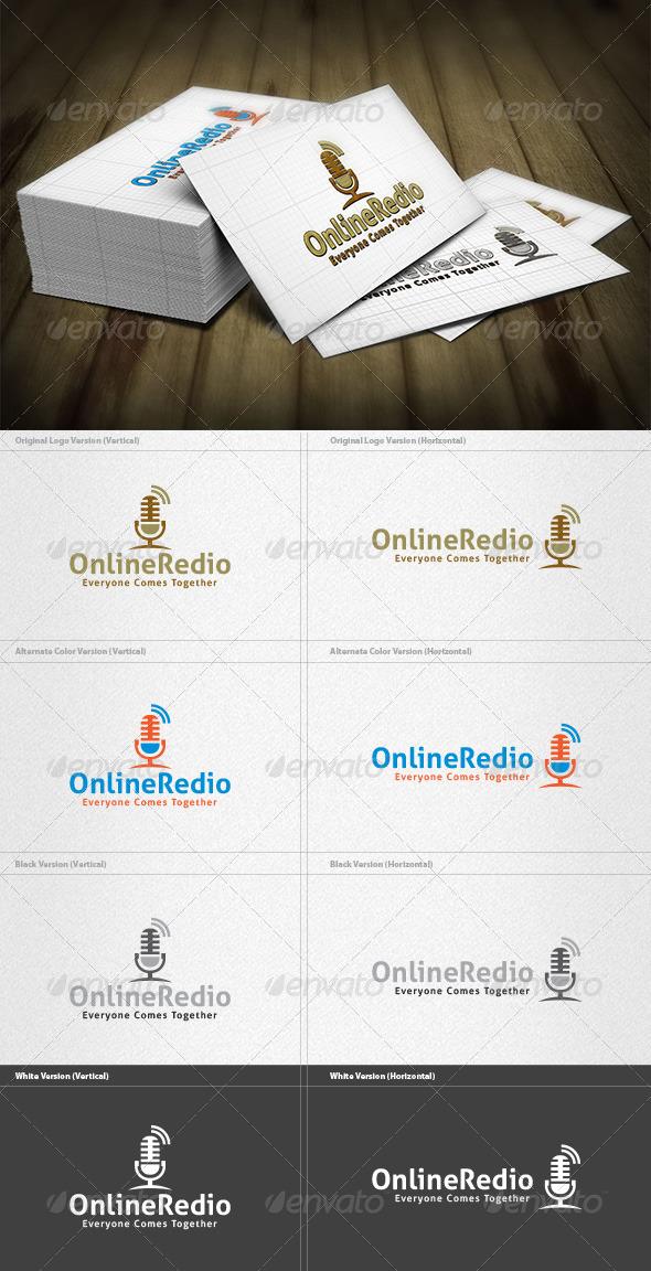 Online Redio Logo - Symbols Logo Templates