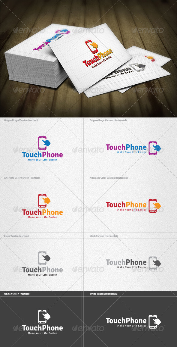 Touch Phone Logo - Symbols Logo Templates