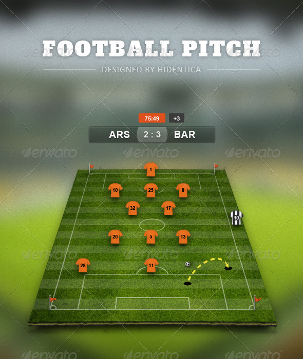 Football Pitch Psd By Hidentica Graphicriver