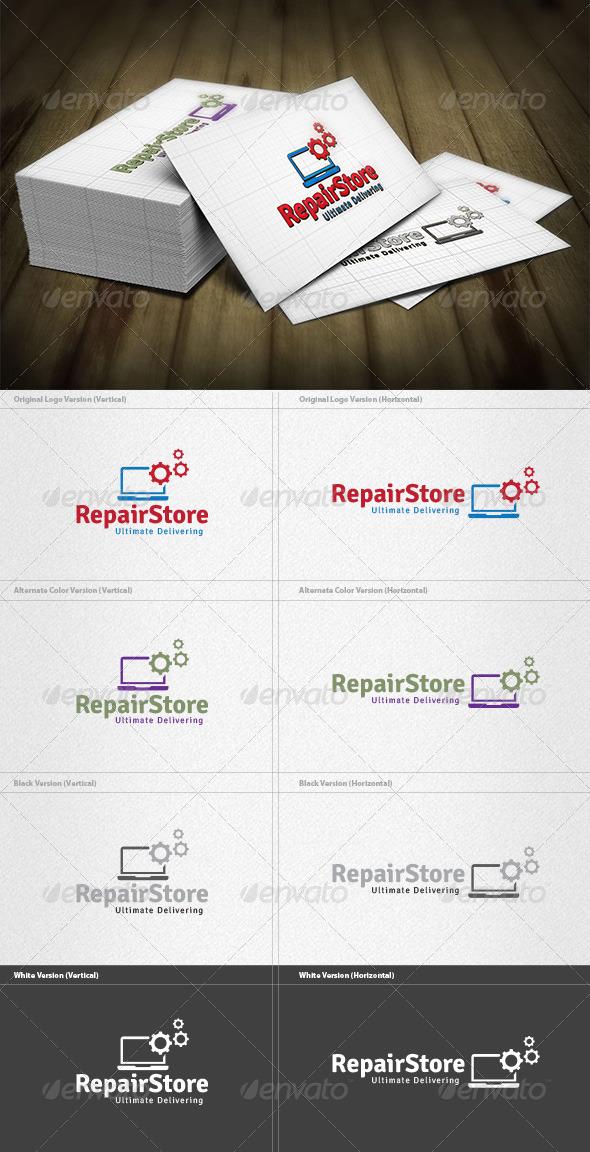 Repair Store Logo - Objects Logo Templates