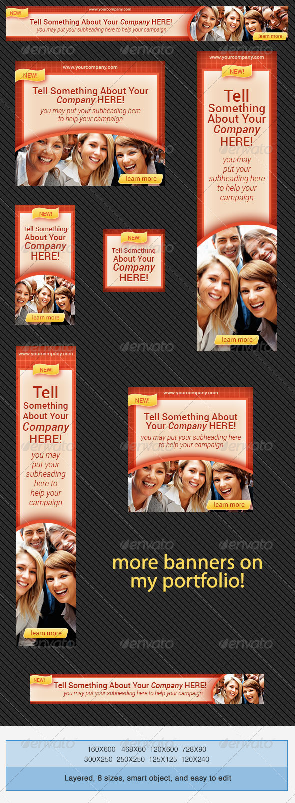 Corporate PSD Banner Ad Template 6 - Banners & Ads Web Elements