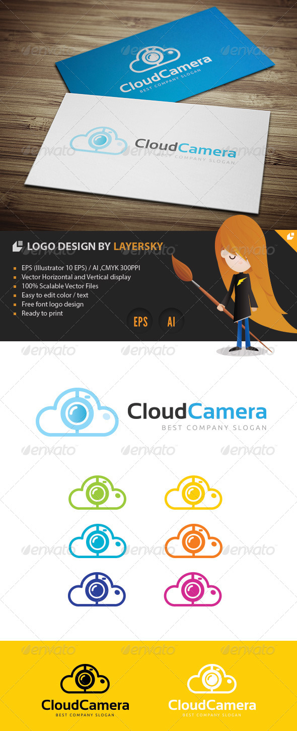 Cloud Camera Logo - Nature Logo Templates