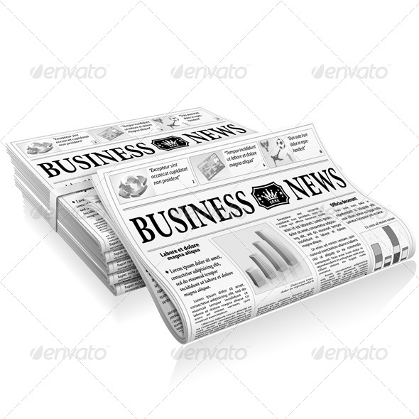 Concept - Business News - Media Technology