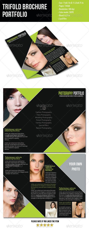 Portfolio Trifold Brochure for Photographer - Portfolio Brochures