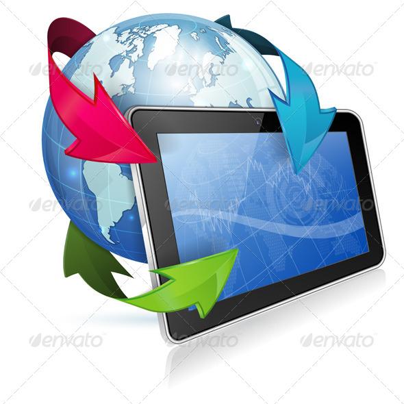 Concept - Internet News - Web Technology