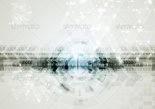 Abstract Vector Hi-Tech Background - Backgrounds Decorative