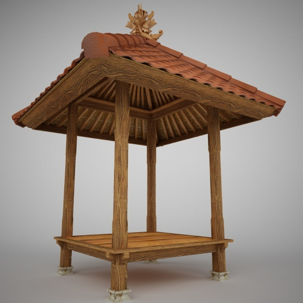 Balinese Gazebo 1.5 x 1.5 m - 3DOcean Item for Sale