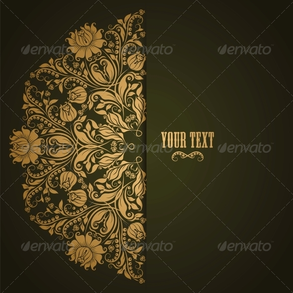 Elegant Background with Lace Ornament - Backgrounds Decorative