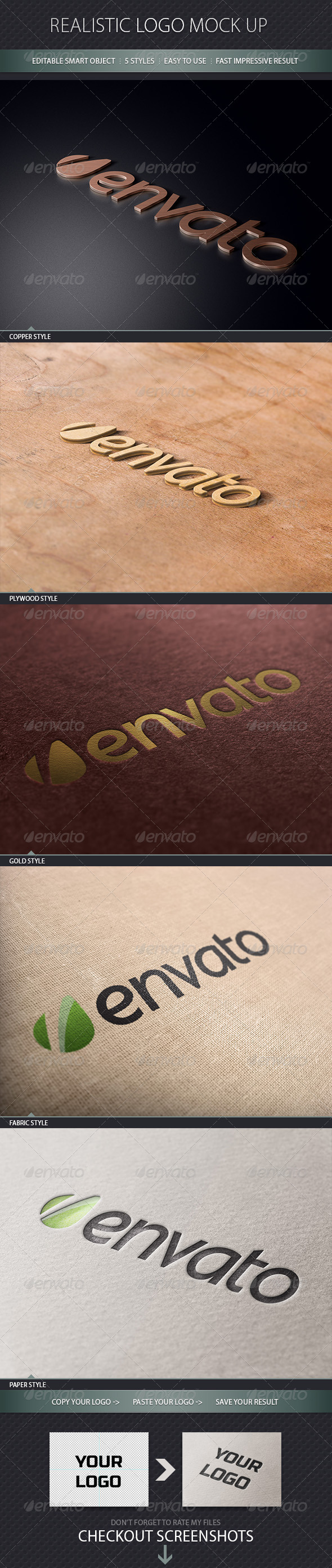 Realistic Logo Mock Up - Miscellaneous Product Mock-Ups