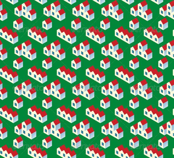 Real Estate Seamless Pattern - Patterns Decorative