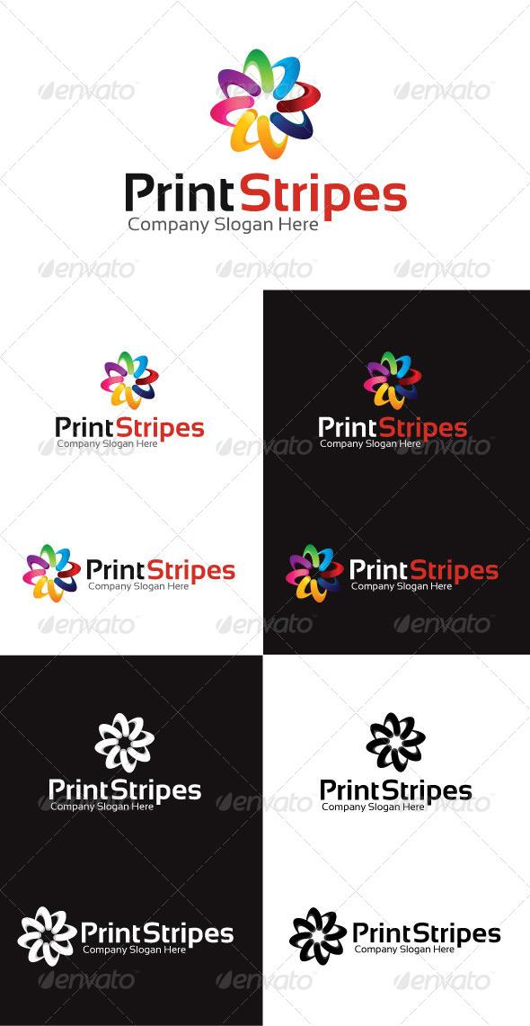 Print Stripes Logo Template - Symbols Logo Templates