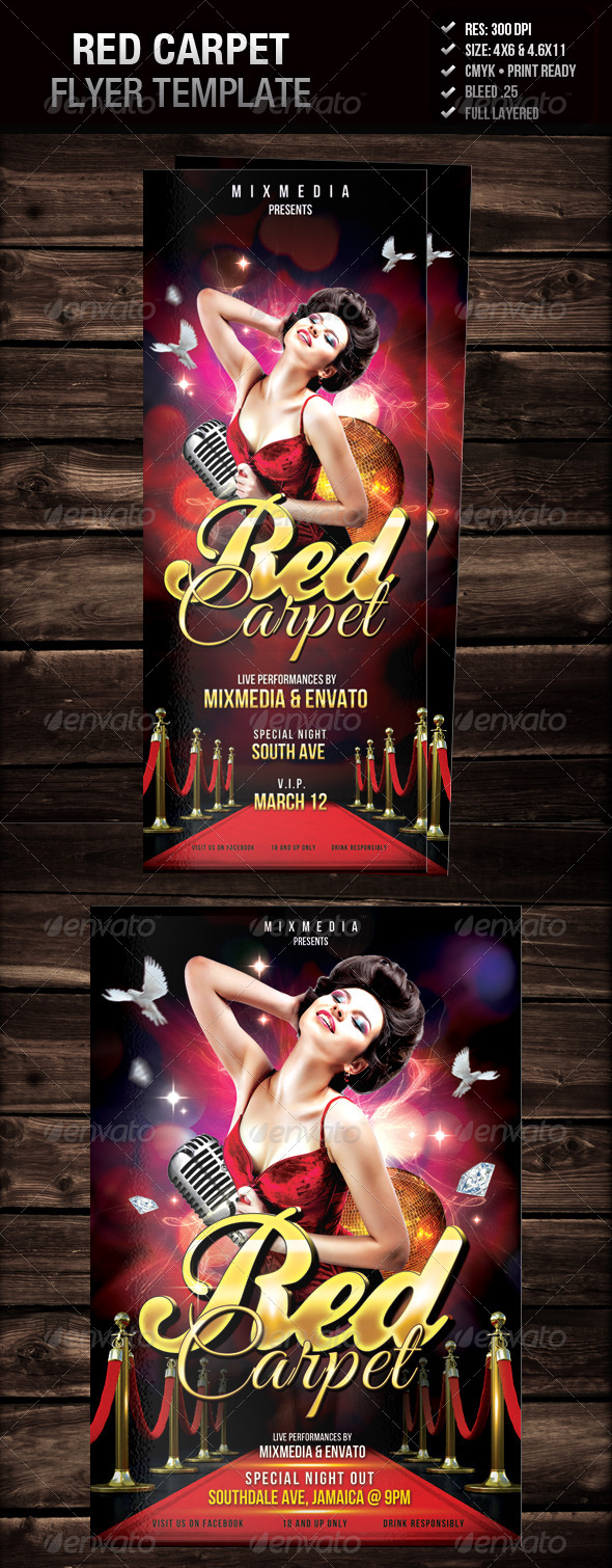Red Carpet Flyer by mixmedia87 | GraphicRiver