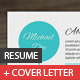 A4 Clean Resume With Cover Letter - GraphicRiver Item for Sale
