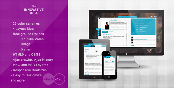 Innovative Idea – Personal vCard HTML5 Theme