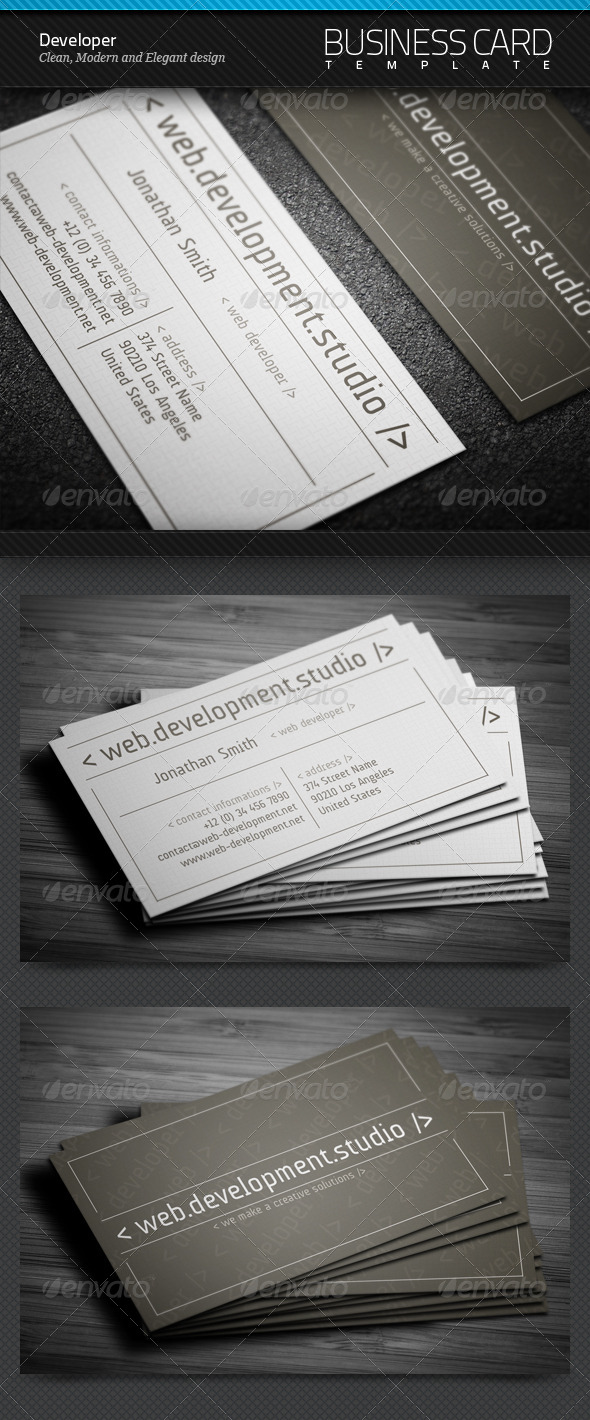 Developer Business Card - Creative Business Cards