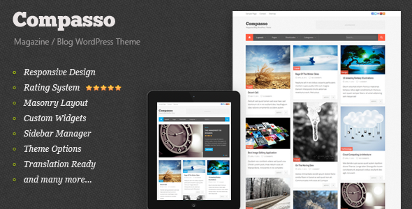 Compasso - Masonry Magazine Theme - Blog / Magazine WordPress