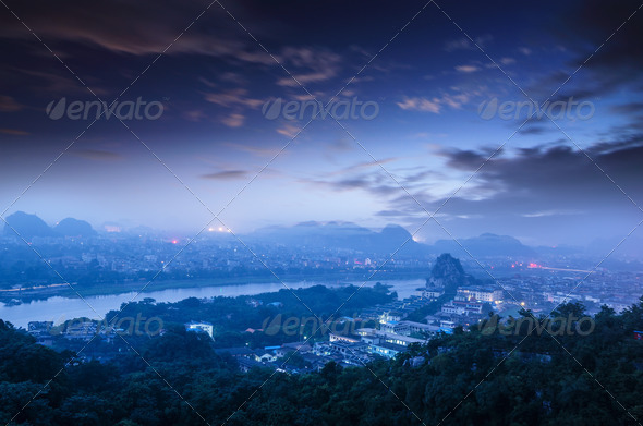 beautiful landscape in Guilin - Stock Photo - Images