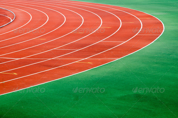 Starting grid of race track - Stock Photo - Images